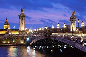 Pont Alexandre en de kathedraal van de Invaliden, Parijs van Markus Lange