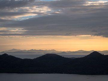 Laagjes Landschap van Palawan Filipijnen van Rik Pijnenburg