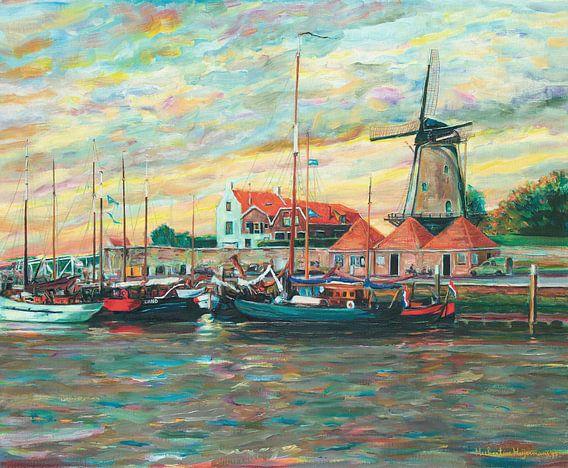 Schilderij van Zierikzee in Zeeland, Nederland