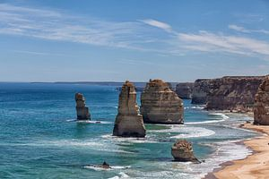 Panorama met de twee apostelen op de Great Ocean Road