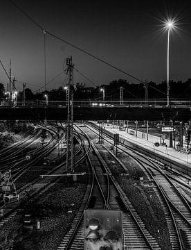 Zwart-witte rails