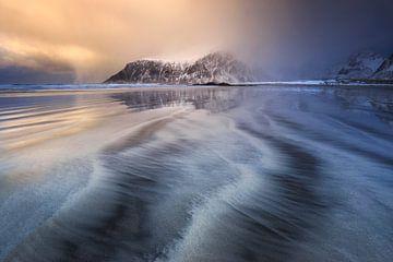 Zonsondergang bij Skagsanden. van Sven Broeckx