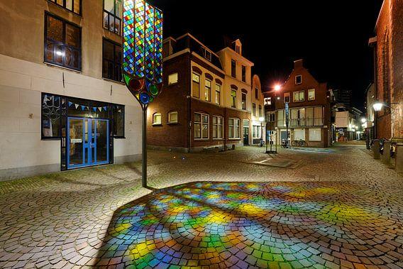 Trajectum Lumen kunstwerk bij Buurkerkhof in Utrecht van Donker Utrecht