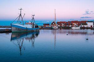 Gezicht op de haven van Klintholm Havn in Denemarken