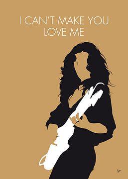No270 MY Bonnie Raitt Minimal Music poster van