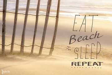 Eten, strand, slapen en weer opnieuw van Dirk van Egmond