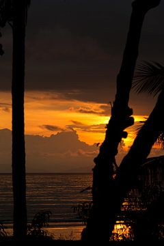 Costa Ricaanse zonsondergang van Jan Tuns