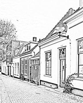 Digitale schets van Bergen op Zoom, noord-Brabant von Kim de Been