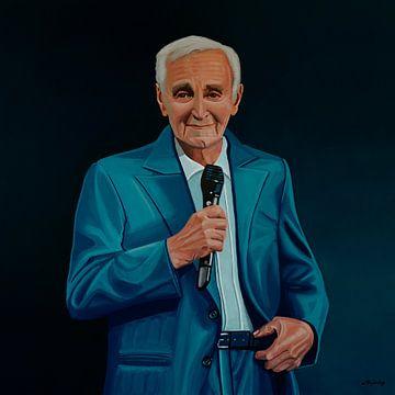 Charles Aznavour Gemälde von Paul Meijering