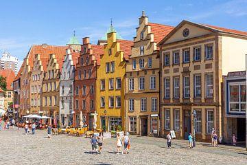Historische Giebelhäuser am Marktplatz, Osnabrück, Niedersachsen, Osnabrück, Deutschland, Europa von Torsten Krüger