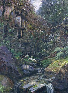 Bij de molen, ALEXANDER KOESTER, Ca. 1900-1905 van Atelier Liesjes