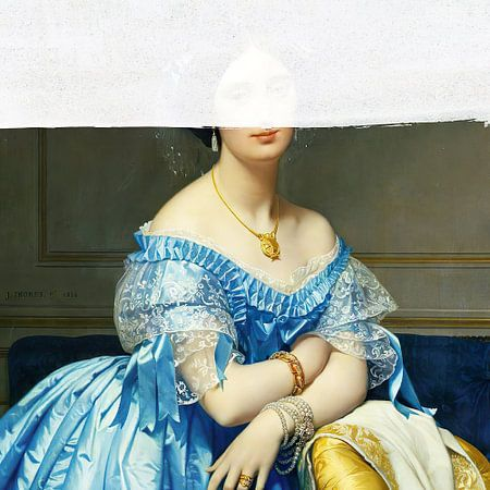 Portrait of Woman van David Potter