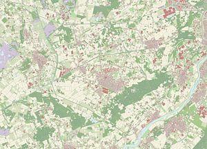 Kaart vanPeel en Maas van