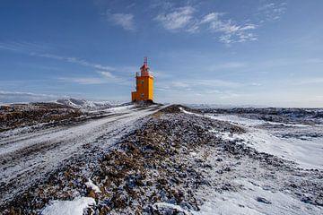 Vuurtoren IJsland van Esther Bakker-van Aalderen