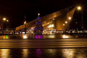 Kerstmis bij Centraal Station Rotterdam van