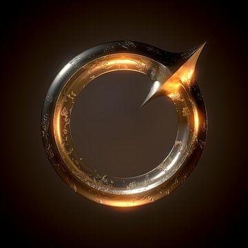 Metalen ring met punt van Jörg Hausmann