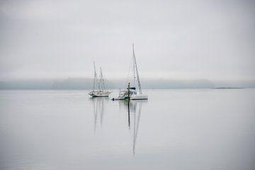 Zeilboten in meer van Bram de Muijnck