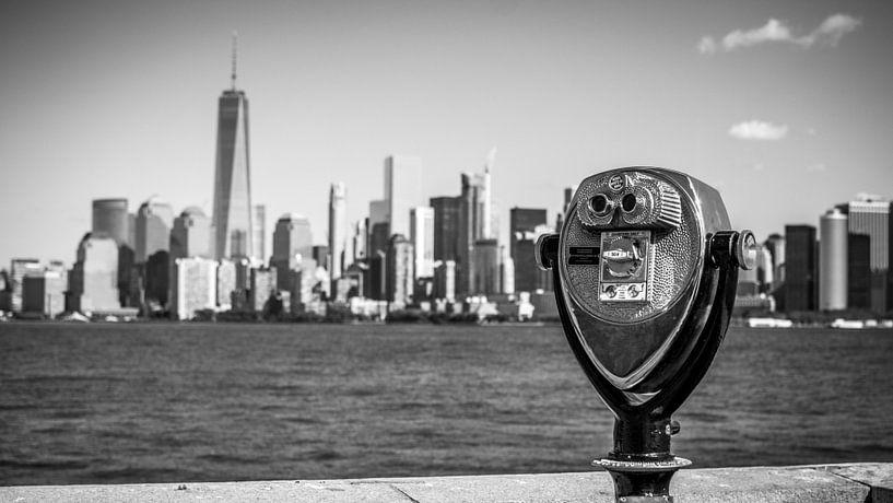 New York Skyline Panorama 3 van Thomas van Houten