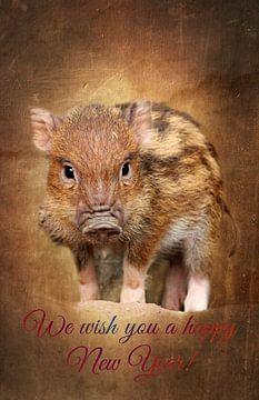 Neujahrsglücksschweinchen von Heike Hultsch