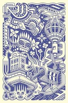 Phantasie-Dudel 4 von Simon van Kessel