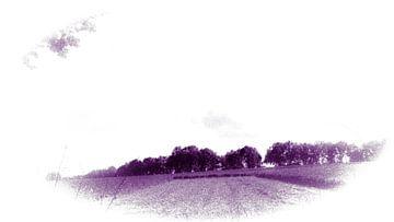 Landscape colors violett  van Jenny Heß