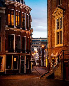 La Koningstraat au centre de Haarlem - couleur
