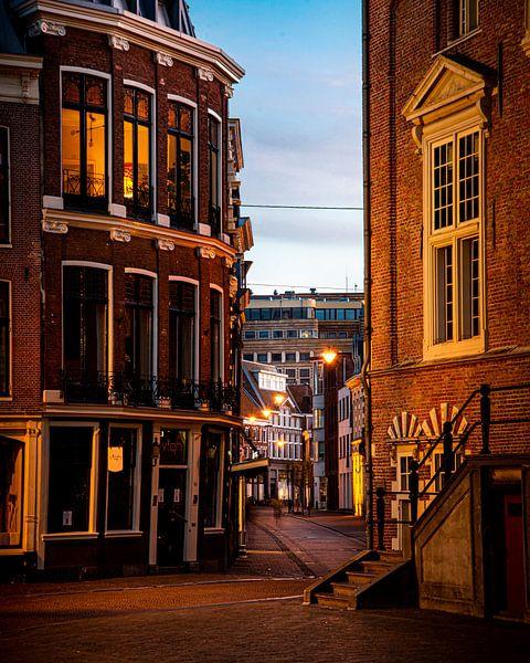 La Koningstraat au centre de Haarlem - couleur sur Arjen Schippers