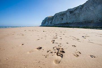 Strand in het noorden van Frankrijk van Rosanne Langenberg