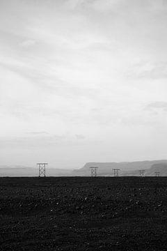 Verlassene Landschaft in schwarz und weiß | Island von ellenklikt