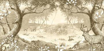 Boho-Wald in Mono-Farbton Vintage-Braun von Studio POPPY