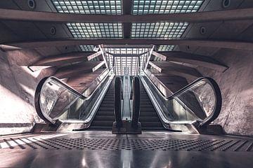 Escalator station Liège-Guillemins van Midi010 Fotografie