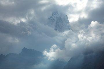 Matterhorn in den Wolken, Zermatt, Schweiz von Torsten Krüger