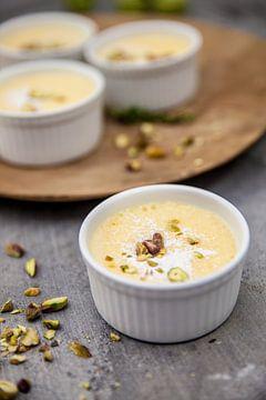 Roompuddinkjes met citroentijm von Nina van der Kleij