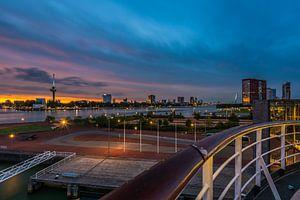 Zonsondergang vanaf de SS Rotterdam van