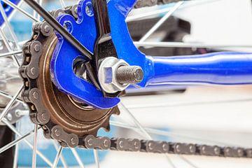 Ketting en tandwiel van fiets van