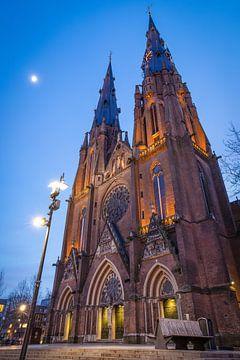 Catharinakerk bij zonsondergang van Jasper Scheffers