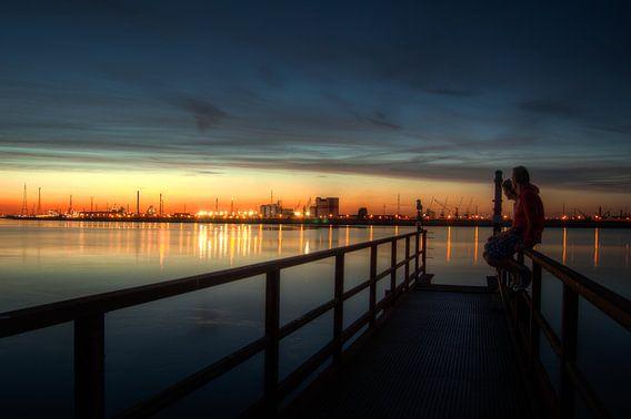 Looking at sundown