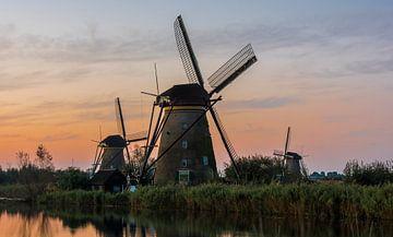 Kinderdijk met drie molens van Daan Kloeg