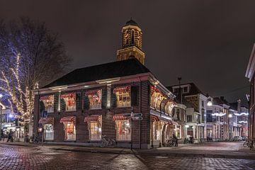 Stadsgezicht Zwolle avond
