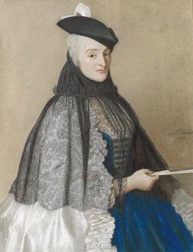 Portret van Catherine Bégon, Jean-Etienne Liotard