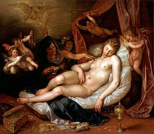 Hendrik Goltzius. De slapende Danae   van