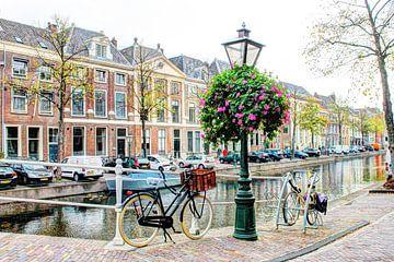 Hoek Rapenburg Doelenbrug Leiden van Hendrik-Jan Kornelis