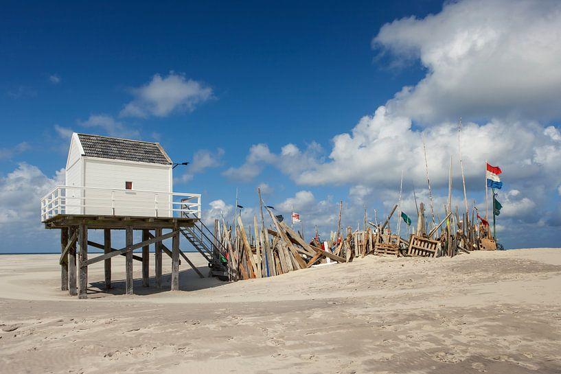 drenkelinghuis Vlieland waddenzee strand van Martin Rijpstra