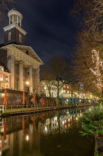Sint Augustinuskerk in de avond, Utrecht