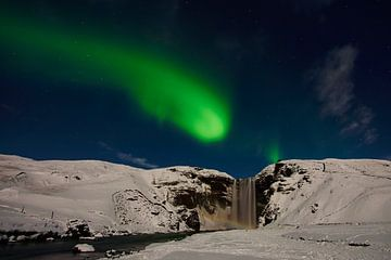 Skogafoss Aurora Borealis sur Edwin van Wijk