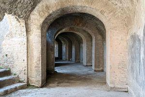 Catacomben van het Amfitheather in Pompeii