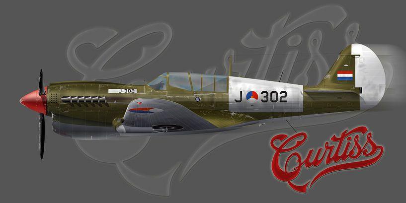 Curtiss P-40 KNIL von Nop Briex