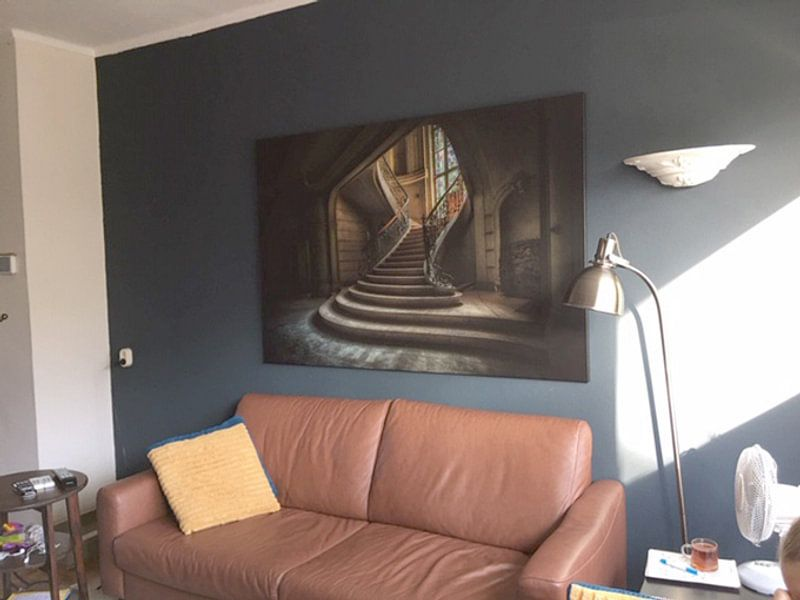 Klantfoto: Chateau Belgie van Kelly van den Brande, op canvas