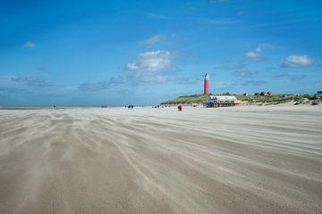 Vuurtoren de Cocksdorp Texel strand von Rene du Chatenier