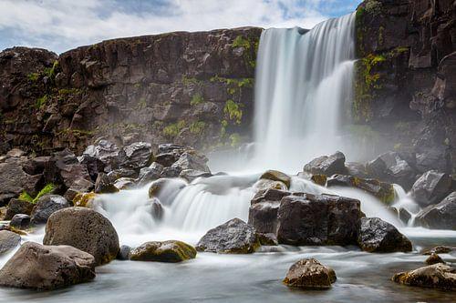 Oxararfoss waterval Iceland  van